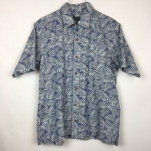 Orvis   PALM Tropical Blue & White Shirt Medium M